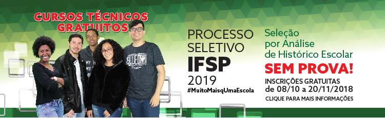 IFSP oferece 5.862 oportunidades para cursos técnicos gratuitos no 1° semestre de 2019