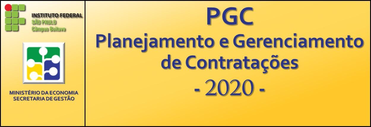 PLANEJAMENTO E GERENCIAMENTO DE AQUISIÇÕES E CONTRATAÇÕES 2020